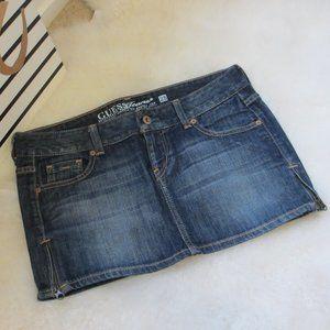 Guess Jeans Denim Skirt Side Zipper Details